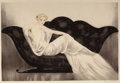 Fine Art - Work on Paper, LOUIS ICART (French, 1888-1950). The Sofa, 1937. Coloretching and aquatint. 17 x 25 inches (43.2 x 63.5 cm) (image).Si...