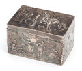 Silver Holloware, Continental:Holloware, A B. NERESHEIMER & SÖHNE HANAU SILVER BOX WITH ENGLISH IMPORTMARKS . Circa 1901. Marks: N, (lion passant) (Chester),...