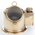 Maritime:Decorative Art, A BRASS BINNACLE SHELL. 20th century. 10 inches high (25.4 cm). ...