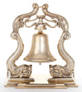 Maritime:Decorative Art, A DOLPHIN BELL. 17 x 15-1/2 x 9-1/2 inches (43.2 x 39.4 x 24.1 cm)....