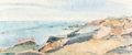 Post-War & Contemporary:Contemporary, SUSAN SHATTER (American, 1943-2011). Halibut Point, Rockport,Maine, 1972. Watercolor on paper. 19 x 45 inches (48.3 x 1...
