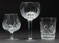 Decorative Arts, British:Lamps & Lighting, A SET OF THIRTY-SEVEN WATERFORD CRYSTAL GLASSES . 20th century.Marks: Waterford. 7-5/8 inches high (19.4 cm) (tallest)...(Total: 37 Items)