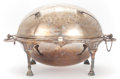 Silver Holloware, British:Holloware, AN ATKIN BROTHERS SILVER PLATED COVERED SERVER . Circa 1855. Marks:HA, EA, FA, EPNS. 10-3/8 x 18-1/2 x 12-1/2 inches (...