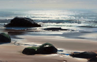 PETER ELLENSHAW (British/American, 1913-2007) Sunlit Seascape Oil on panel 8 x 12 inches (20.3 x