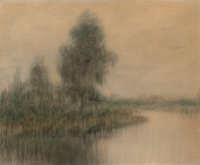 ALEXANDER JOHN DRYSDALE (American, 1870-1934) Bayou Landscape, 1912 Oil on panel 18 x 22 inches (