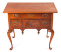 Furniture : American, AN AMERICAN QUEEN ANNE CARVED WALNUT LOW BOY . Maker unknown, 18thcentury. 30-1/8 x 34-1/2 x 20-1/2 inches (76.5 x 87.6 x 5...