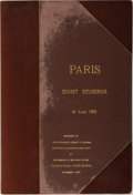 Books:Prints & Leaves, Louis Orr. Portfolio of 8 Signed Etchings, Entitled Paris.1926. Presentation binding from the Consul General of Fra...