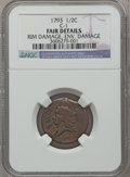 Half Cents, 1793 1/2 C -- Environmental Damage, Rim Damage -- NGC Details.Fair. C-1. NGC Census: (2/135). PCGS Population (18/1972). M...
