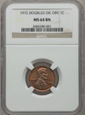 Lincoln Cents: , 1972 1C Doubled Die Obverse MS64 Brown NGC. NGC Census: (47/24).PCGS Population (32/5). Mintage: 75,000. Numismedia Wsl. P...