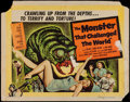 """Movie Posters:Science Fiction, The Monster that Challenged the World (United Artists, 1957). HalfSheet (22"""" X 28""""). Science Fiction.. ..."""