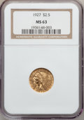 Indian Quarter Eagles: , 1927 $2 1/2 MS63 NGC. NGC Census: (3640/3113). PCGS Population(2766/2269). Mintage: 388,000. Numismedia Wsl. Price for pro...