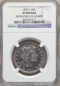 Barber Half Dollars: , 1892-S 50C -- Improperly Cleaned -- NGC Details. XF. NGC Census:(1/113). PCGS Population (11/190). Mintage: 1,029,028. Num...