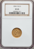 Liberty Quarter Eagles: , 1856-S $2 1/2 XF45 NGC. NGC Census: (24/138). PCGS Population(16/85). Mintage: 72,100. Numismedia Wsl. Price for problem f...