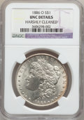 Morgan Dollars: , 1886-O $1 -- Harshly Cleaned -- NGC Details. Unc. NGC Census:(162/1349). PCGS Population (176/1753). Mintage: 10,710,000. ...