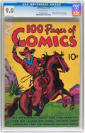 Platinum Age (1897-1937):Miscellaneous, 100 Pages of Comics #101 (Dell, 1937) CGC VF/NM 9.0 Off-whitepages....