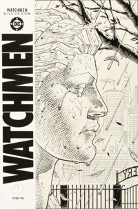 """Dave Gibbons Watchmen #2 """"Cemetery"""" Cover Original Art (DC, 1986)"""