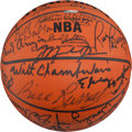 Basketball Collectibles:Balls, 1999 NBA Fifty Greatest Players Basketball Signed by Forty....