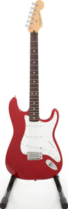 Musical Instruments:Acoustic Guitars, 1995 Fender Standard Stratocaster Candy Apple Red Solid Body Electric Guitar, Serial # MN5204804. ...