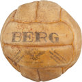 Basketball Collectibles:Balls, 1936 Berlin Olympics Gold Medal Game Used Basketball....