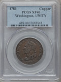 Colonials: , 1783 1C Washington Unity States Cent XF40 PCGS. PCGS Population(42/184). NGC Census: (12/100). ...