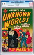 Golden Age (1938-1955):Horror, Journey Into Unknown Worlds #7 (Atlas, 1951) CGC VF+ 8.5 Off-whitepages....