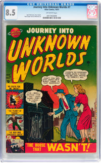 Journey Into Unknown Worlds #7 (Atlas, 1951) CGC VF+ 8.5 Off-white pages