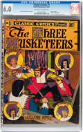 Golden Age (1938-1955):Classics Illustrated, Classic Comics #1 The Three Musketeers - Original Edition (Gilberton, 1941) CGC FN 6.0 Off-white to white pages....