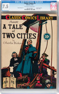 Golden Age (1938-1955):Classics Illustrated, Classic Comics #6 A Tale of Two Cities - Original Edition (Gilberton, 1942) CGC VF- 7.5 Off-white to white pages....