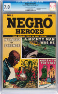 Golden Age (1938-1955):Non-Fiction, Negro Heroes #1 (Parents' Magazine Institute, 1947) CGC FN/VF 7.0Cream to off-white pages....