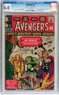 Silver Age (1956-1969):Superhero, The Avengers #1 (Marvel, 1963) CGC FN 6.0 Off-white to whitepages....