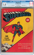 Golden Age (1938-1955):Superhero, Superman #2 (DC, 1939) CGC GD- 1.8 Off-white to white pages....