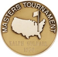 Golf Collectibles:Autographs, 1939 Masters Championship Gold Medal Presented to Ralph Guldahl....