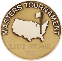 1939 Masters Championship Gold Medal Presented to Ralph Guldahl