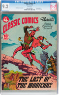 Golden Age (1938-1955):Classics Illustrated, Classic Comics #4 The Last of the Mohicans - Original Edition(Gilberton, 1942) CGC NM- 9.2 White pages....