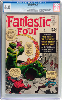 Fantastic Four #1 (Marvel, 1961) CGC FN 6.0 Off-white to white pages