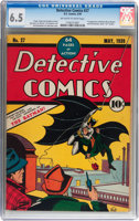 Featured item image of Detective Comics #27 (DC, 1939) CGC FN+ 6.5 Off-white to white pages....