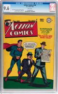 Golden Age (1938-1955):Superhero, Action Comics #100 (DC, 1946) CGC NM+ 9.6 White page....