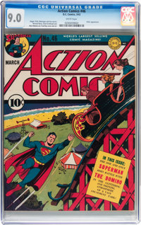 Action Comics #46 (DC, 1942) CGC VF/NM 9.0 White pages