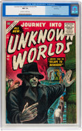 Golden Age (1938-1955):Horror, Journey Into Unknown Worlds #39 Northford pedigree (Atlas, 1955)CGC NM 9.4 Off-white to white pages....