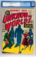 Golden Age (1938-1955):Science Fiction, Journey Into Unknown Worlds #37 Northford pedigree (Atlas, 1955)CGC NM 9.4 Off-white pages....