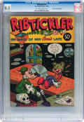 Golden Age (1938-1955):Funny Animal, Fox Giants - Ribtickler #1 Mile High pedigree (Fox FeaturesSyndicate, 1945) CGC VF+ 8.5 Off-white to white pages....