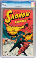 """Golden Age (1938-1955):Crime, Shadow Comics V9#4 Davis Crippen (""""D"""" Copy) pedigree (Street & Smith, 1949) CGC NM+ 9.6 Off-white to white pages...."""