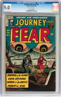 Golden Age (1938-1955):Horror, Journey Into Fear #21 (Superior, 1954) CGC VF/NM 9.0 Off-whitepages....