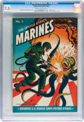 Golden Age (1938-1955):War, United States Marines #3 (Magazine Enterprises, 1944) CGC VF- 7.5Cream to off-white pages....