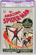 Silver Age (1956-1969):Superhero, The Amazing Spider-Man #1 (Marvel, 1963) CGC Apparent VF/NM 9.0 Slight (P) Off-white to white pages....