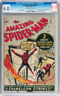 Silver Age (1956-1969):Superhero, The Amazing Spider-Man #1 (Marvel, 1963) CGC FN 6.0 Cream tooff-white pages....