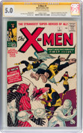Silver Age (1956-1969):Superhero, X-Men #1 Signature Series (Marvel, 1963) CGC VG/FN 5.0 Off-white towhite pages....