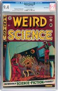 Golden Age (1938-1955):Science Fiction, Weird Science #8 Gaines File pedigree (EC, 1951) CGC NM 9.4Off-white to white pages....