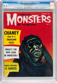 Famous Monsters of Filmland #8 (Warren, 1960) CGC NM- 9.2 Off-white to white pages