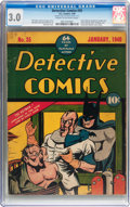 Golden Age (1938-1955):Superhero, Detective Comics #35 (DC, 1940) CGC GD/VG 3.0 Cream to off-whitepages....